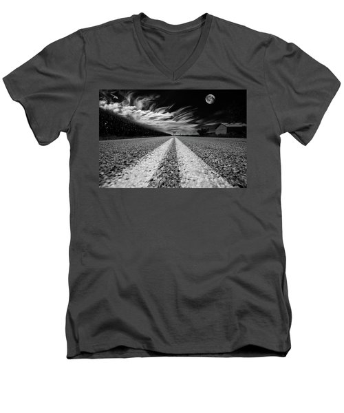 Country Road 51 Men's V-Neck T-Shirt by Kevin Cable