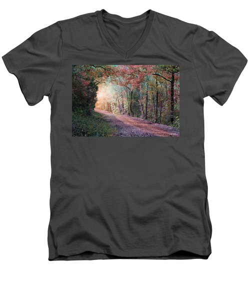 Country Road Men's V-Neck T-Shirt by Bill Stephens