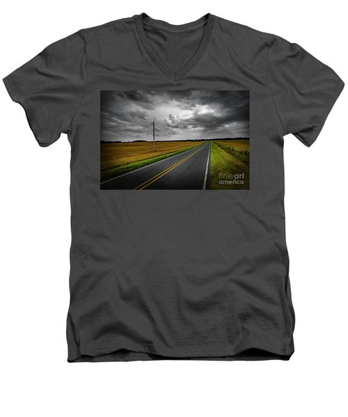 Country Road Men's V-Neck T-Shirt by Brian Jones