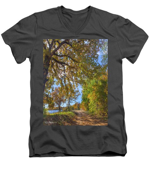 Country Road Men's V-Neck T-Shirt by Tim Fitzharris
