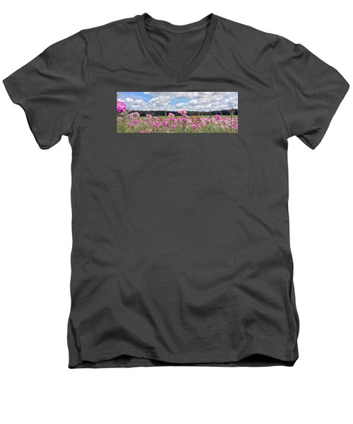 Country Roads Men's V-Neck T-Shirt by LeeAnn Kendall