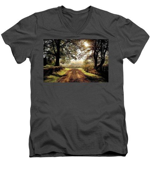 Country Roads Men's V-Neck T-Shirt by Ronda Ryan