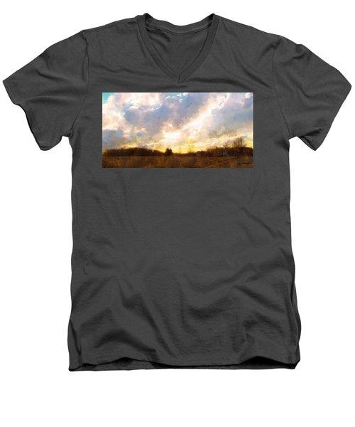 Country Sunset Men's V-Neck T-Shirt