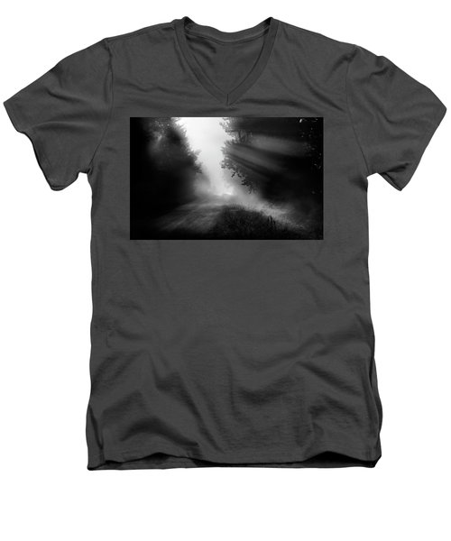 Men's V-Neck T-Shirt featuring the photograph Country Trails by Dan Jurak