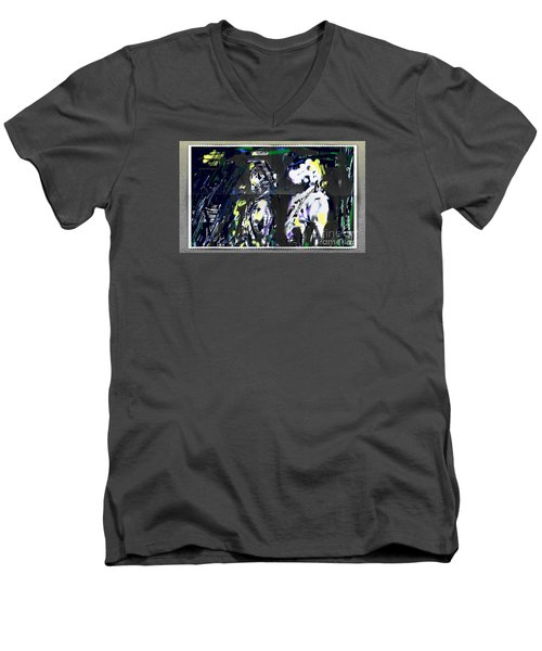 Couple In Moonlight Men's V-Neck T-Shirt