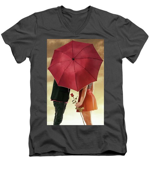 Men's V-Neck T-Shirt featuring the photograph Couple Of Sweethearts by Carlos Caetano