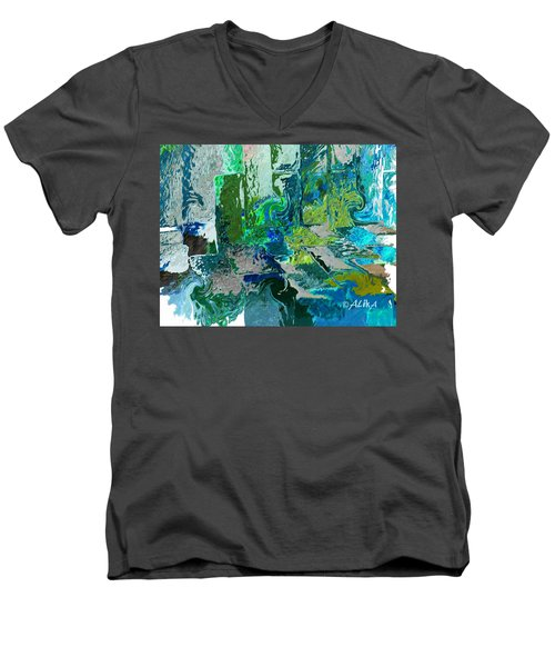Courtyard Men's V-Neck T-Shirt by Alika Kumar