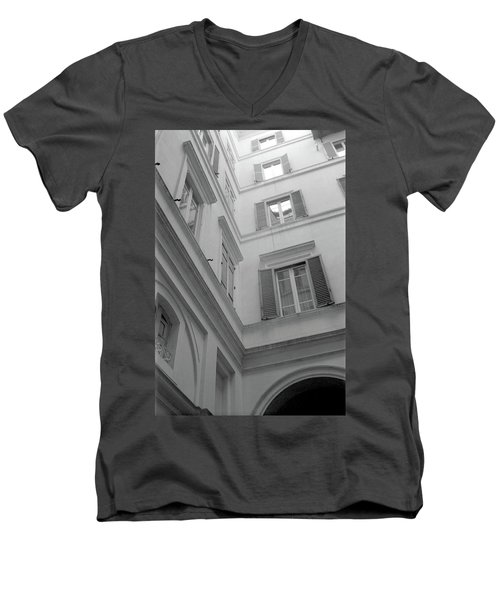 Courtyard In Rome Men's V-Neck T-Shirt