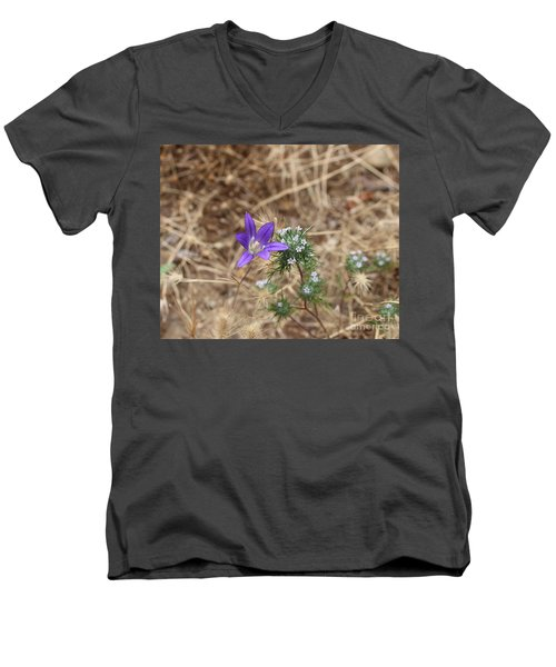 Men's V-Neck T-Shirt featuring the photograph Cousins by Marie Neder