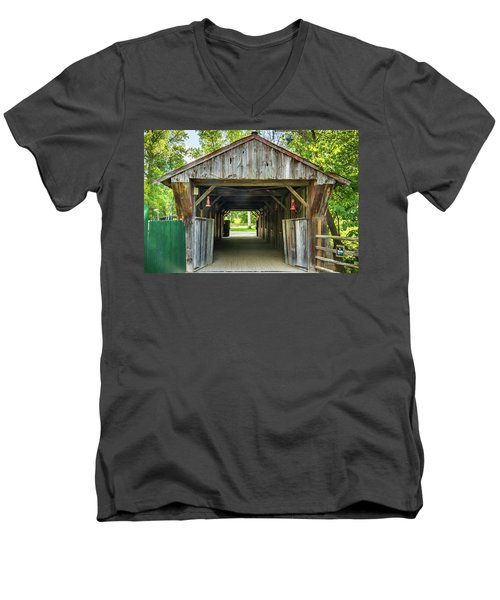 Covered Bridge Hdr Men's V-Neck T-Shirt