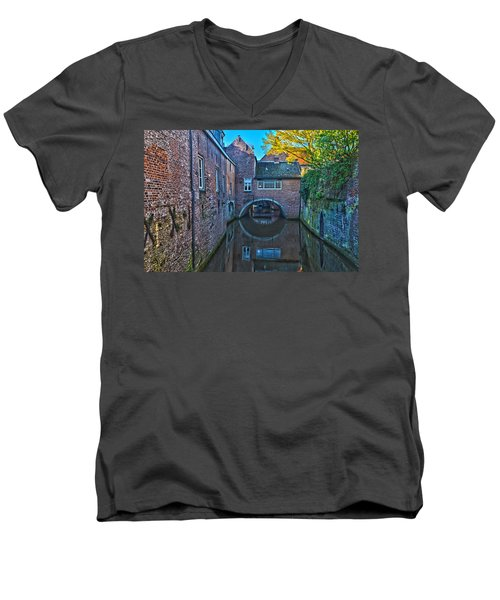 Covered Canal In Den Bosch Men's V-Neck T-Shirt