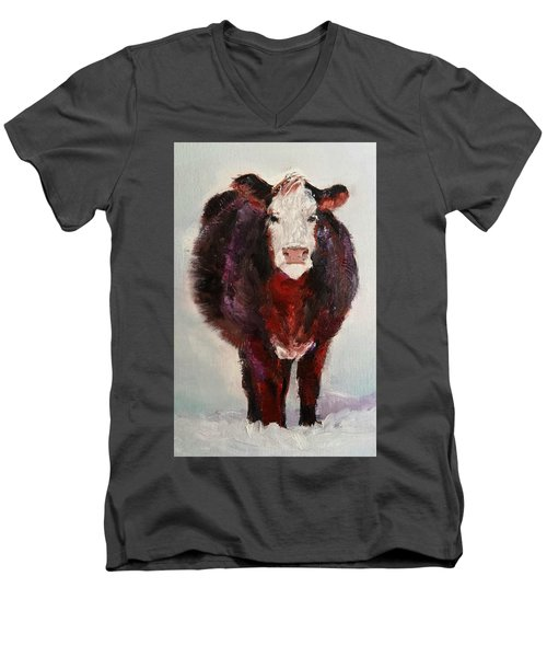 Cow Painting  Men's V-Neck T-Shirt by Michele Carter