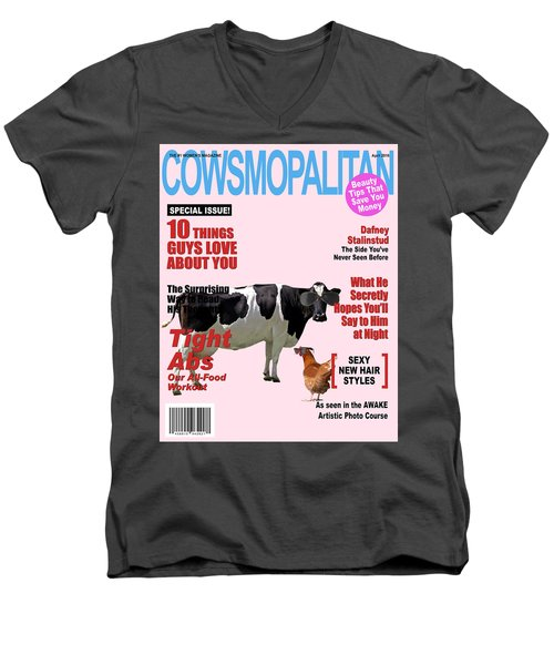 Cow Poster Men's V-Neck T-Shirt
