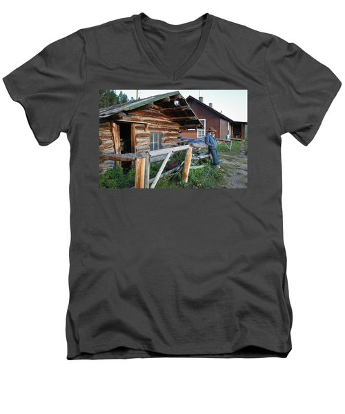 Cowboy Cabin Men's V-Neck T-Shirt