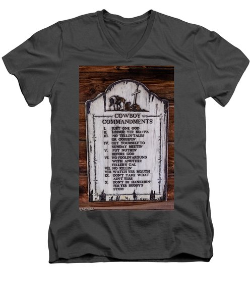 Cowboy Commandments Men's V-Neck T-Shirt
