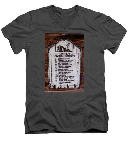 Cowboy Commandments Men's V-Neck T-Shirt