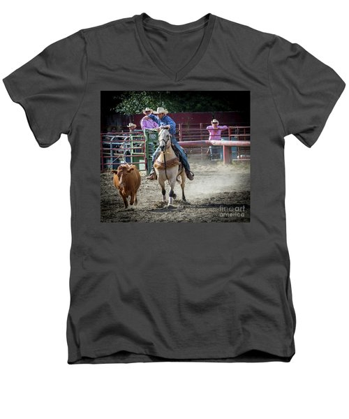 Cowboy In Action#2 Men's V-Neck T-Shirt