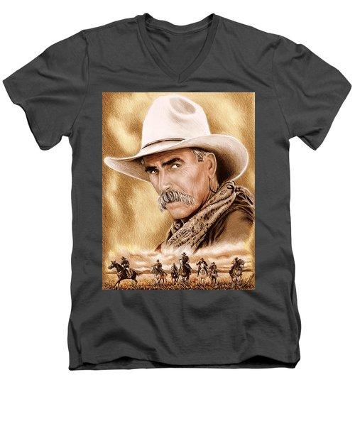 Cowboy Sepia Edit Men's V-Neck T-Shirt