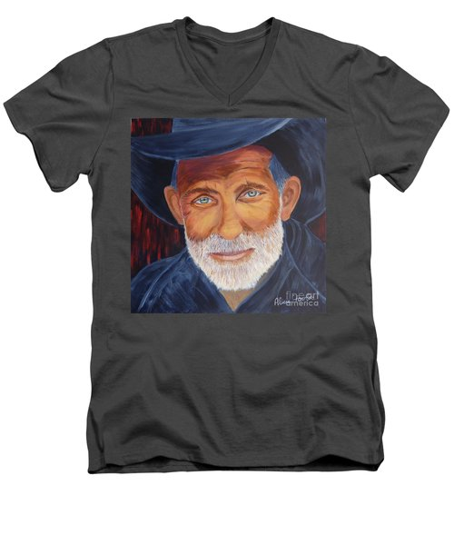 Cowboy Tex Men's V-Neck T-Shirt