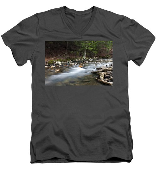 Coxing Kill In February #1 Men's V-Neck T-Shirt by Jeff Severson
