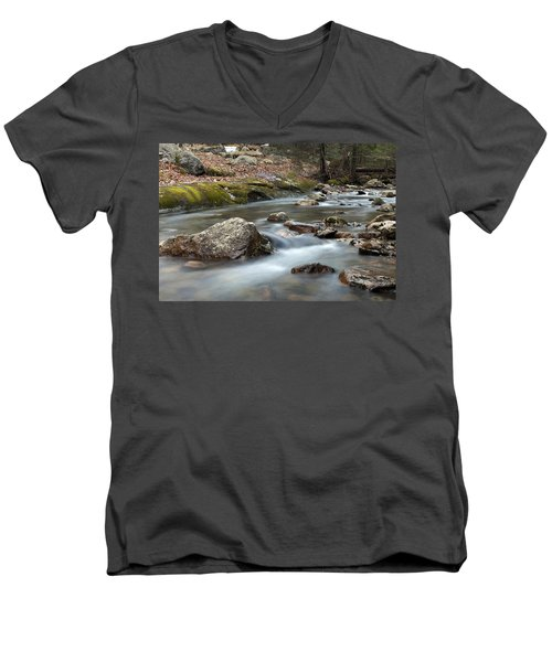 Men's V-Neck T-Shirt featuring the photograph Coxing Kill In February #2 by Jeff Severson
