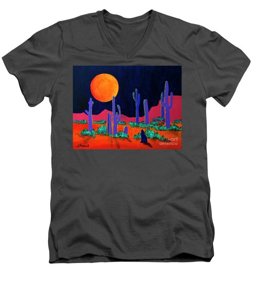 Coyote Moon Men's V-Neck T-Shirt by Jeanette French