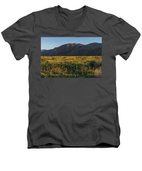 Coyote Mountain And Henderson Canyon Road Men's V-Neck T-Shirt