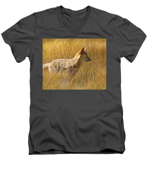 Coyote Sunshine Men's V-Neck T-Shirt