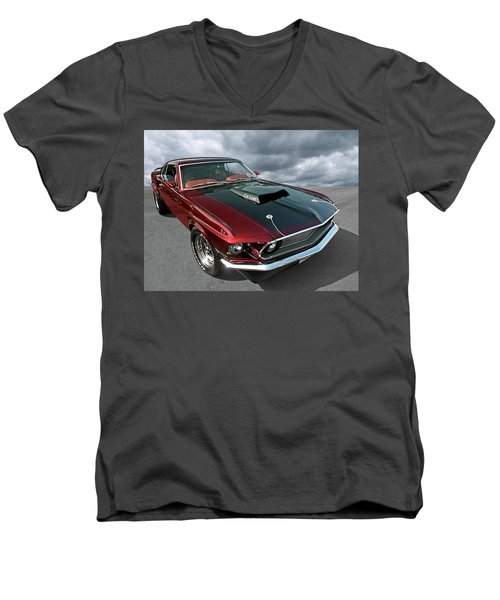 Coz I Can  Men's V-Neck T-Shirt by Gill Billington