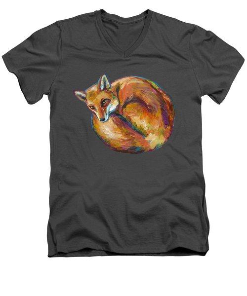 Coziest Fox Men's V-Neck T-Shirt