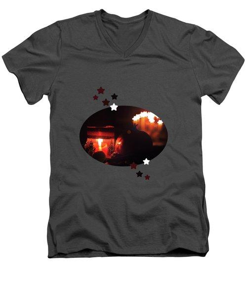 Cozy Advent Men's V-Neck T-Shirt by AugenWerk Susann Serfezi