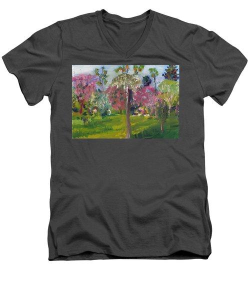 Crab Apple Blossom Time Men's V-Neck T-Shirt