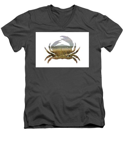 Crab Beach Men's V-Neck T-Shirt