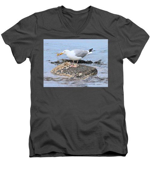 Men's V-Neck T-Shirt featuring the photograph Crab Legs by Debbie Stahre