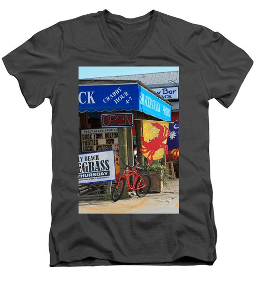 Crabby Hour 4-7 Men's V-Neck T-Shirt