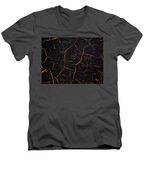 Men's V-Neck T-Shirt featuring the photograph Cracking Paint by Jason Moynihan