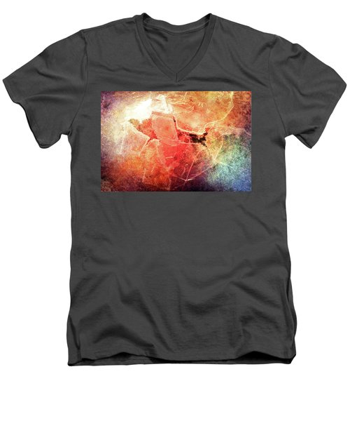 Cracks Of Colors Men's V-Neck T-Shirt