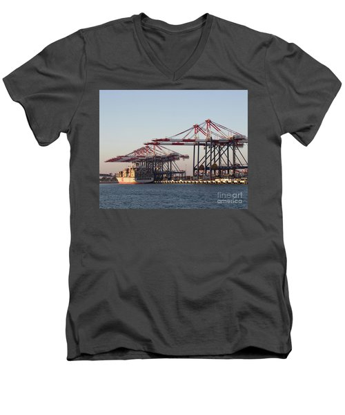 Cranes 2 Men's V-Neck T-Shirt