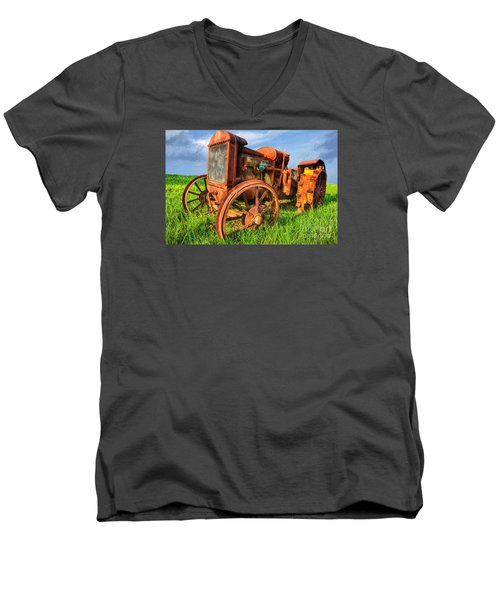 Crank And Plow II Men's V-Neck T-Shirt