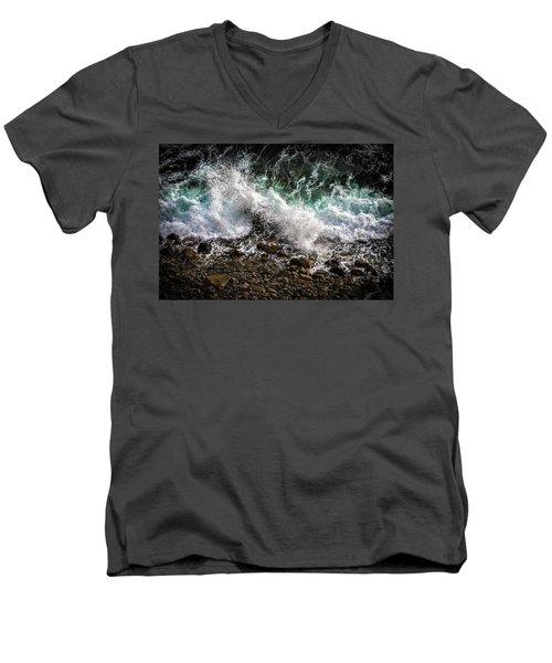 Crashing Surf Men's V-Neck T-Shirt