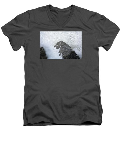 Crashing Wave Men's V-Neck T-Shirt by Kenneth Albin