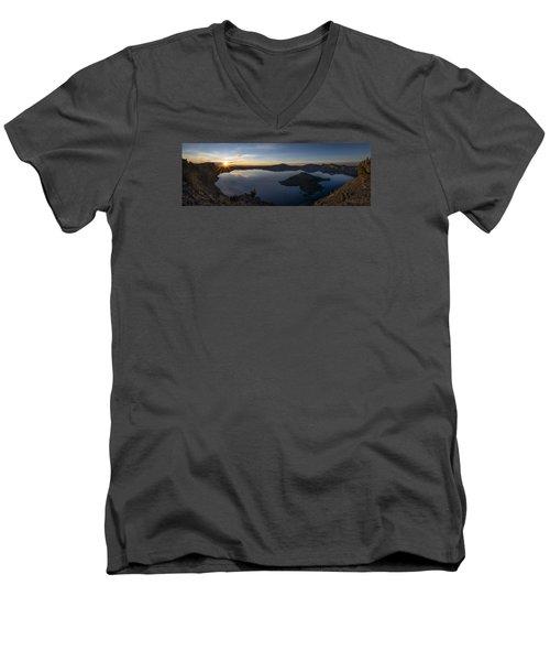Crater Lake At Sunrise Men's V-Neck T-Shirt