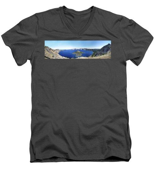 Crater Lake Panoramic Men's V-Neck T-Shirt