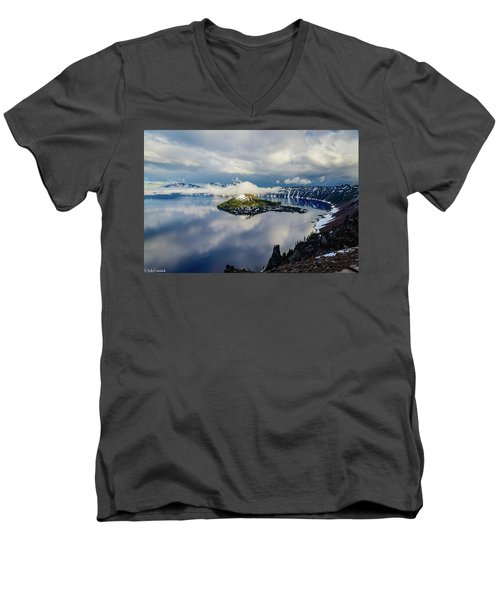 Crater Lake Storm Men's V-Neck T-Shirt