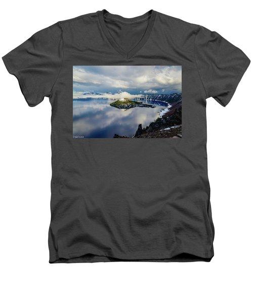 Crater Lake Storm Men's V-Neck T-Shirt
