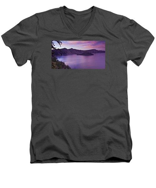 Crater Lake Sunset Men's V-Neck T-Shirt