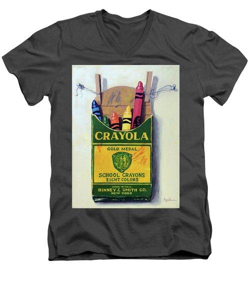 Crayola Crayons Painting Men's V-Neck T-Shirt