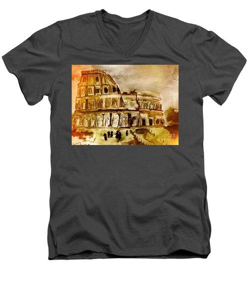 Crazy Colosseum Men's V-Neck T-Shirt