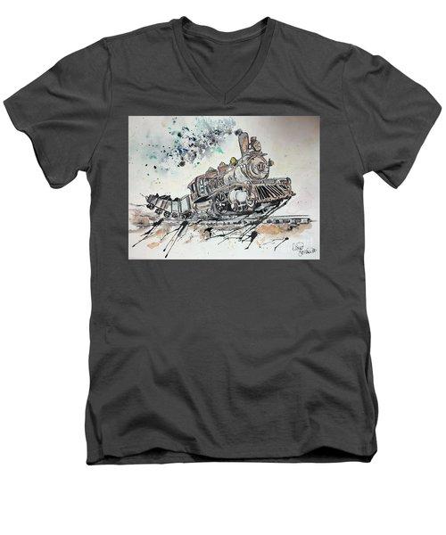 Crazy Train Men's V-Neck T-Shirt