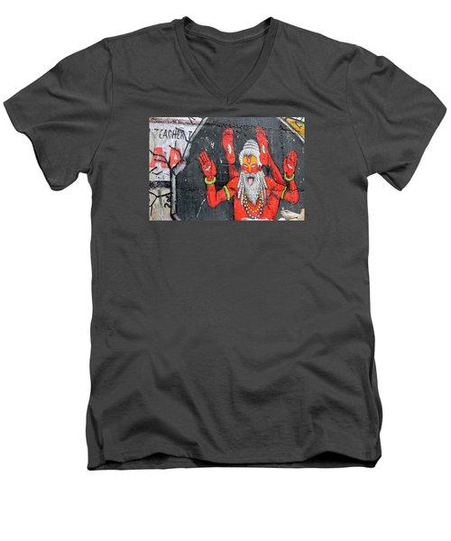 Crazy Yogi, Rishikesh Men's V-Neck T-Shirt